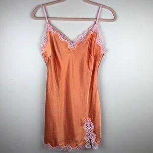 Victoria's Secret Lingerie Satin Lace Slip Sz M